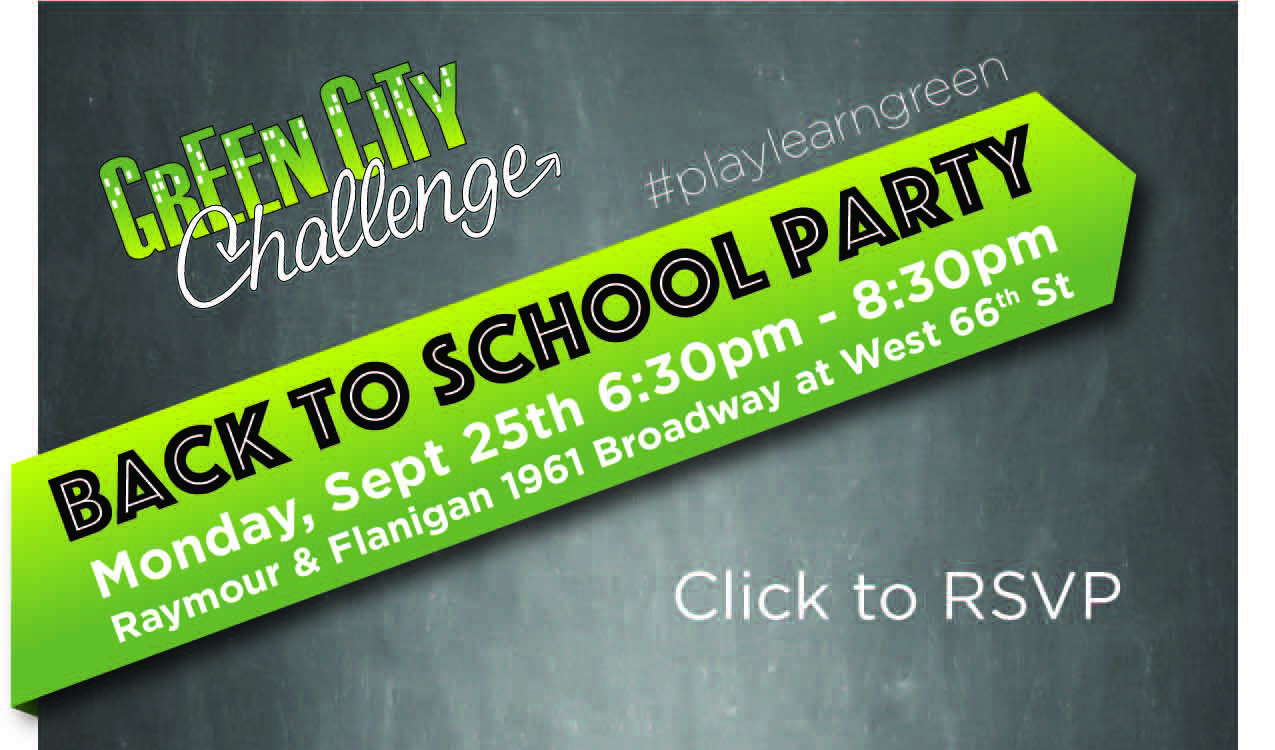 GreenCityChallenge Back to School Party